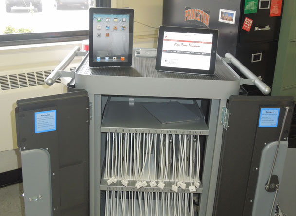 iPad tablets and cart